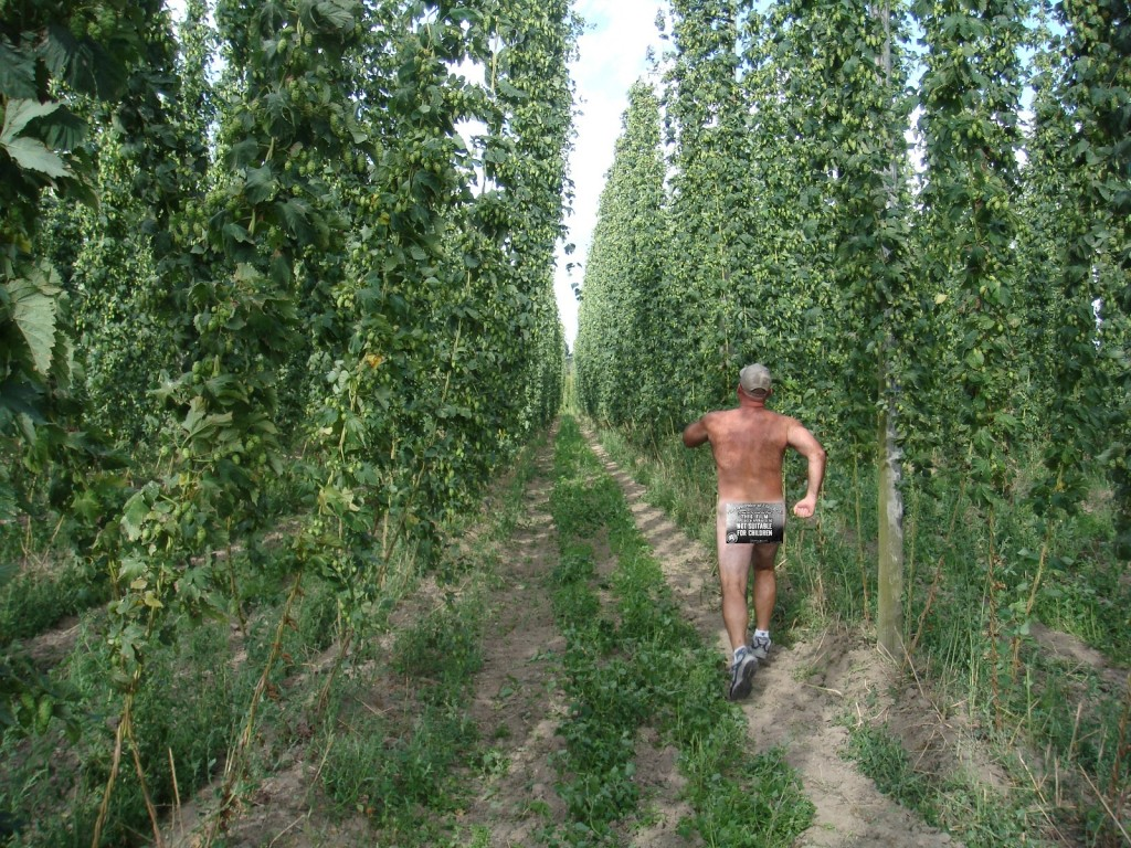 Unidentified Sasquatch Running Naked Through Belgian Hop Fields